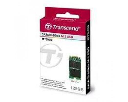 """Твердотельный диск 128GB Transcend MTS400, M.2"""",SATA III [ R/W - 160/560 MB/s]"""